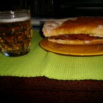 Bocadillo serrano y cervezón