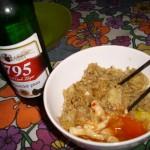 Noodles y pollo al chili dulce